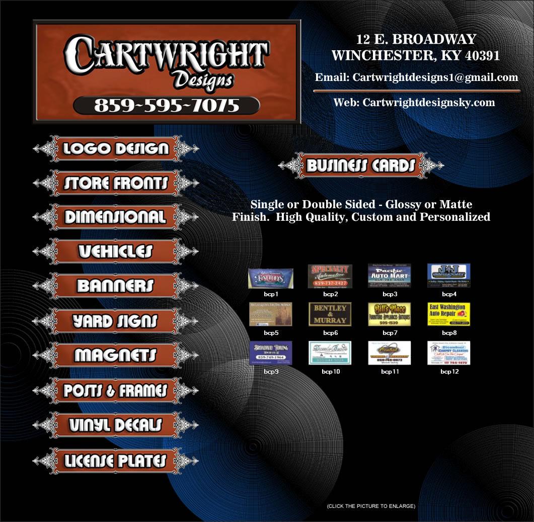 www.cartwrightdesignsky.com|Cartwright Designs|Business Cards ...